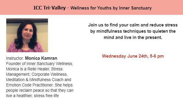 Wellness Session for Youth for ICC Tri-Valley
